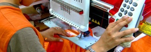 Modern embroidery processing